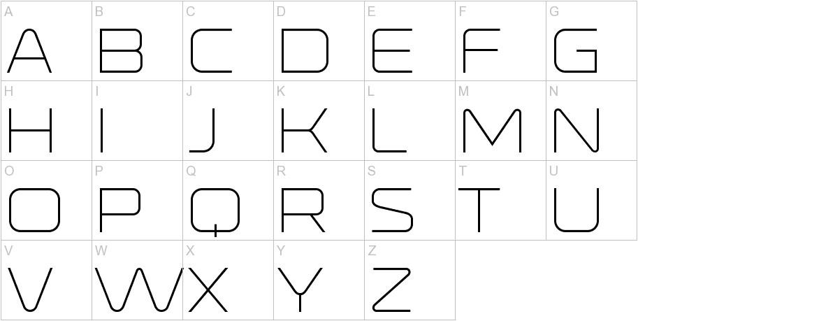 Ronduit Capitals Light uppercase