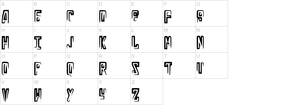 RussianLine uppercase
