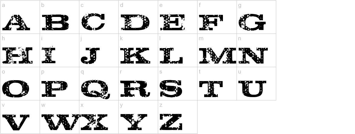 Rustik lowercase