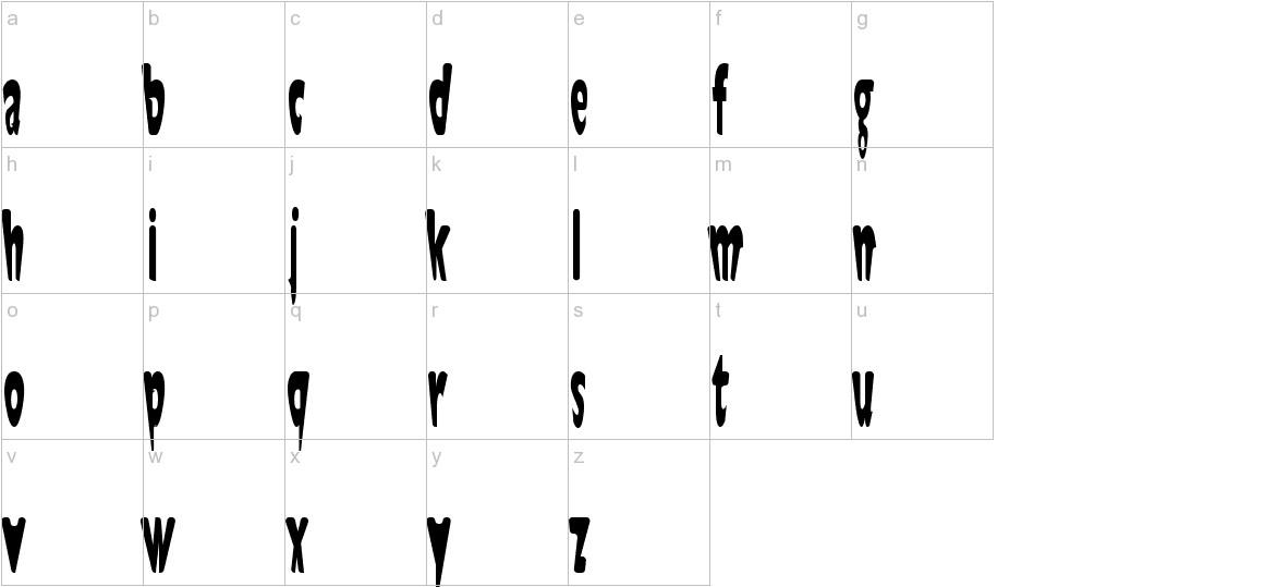Jaunty Normal lowercase