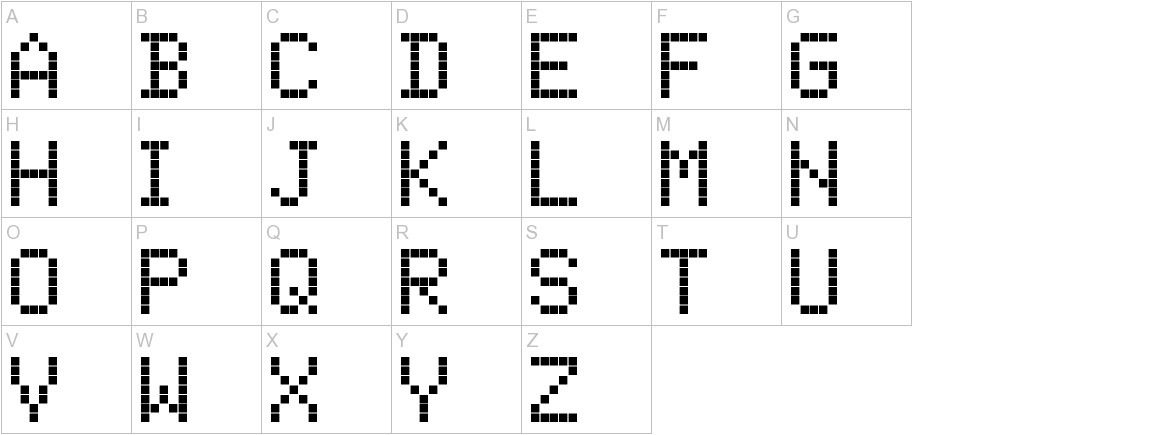 ScreenMatrix uppercase