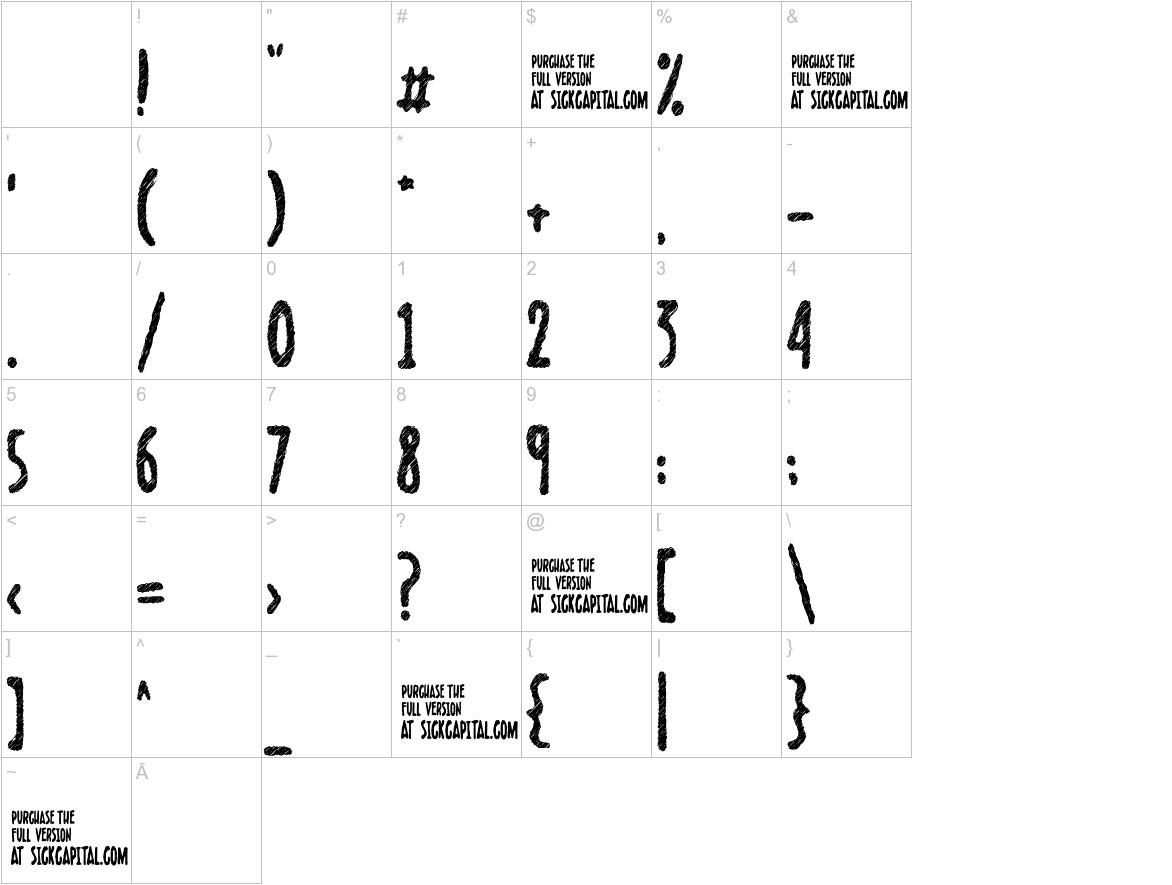 Scribblet characters