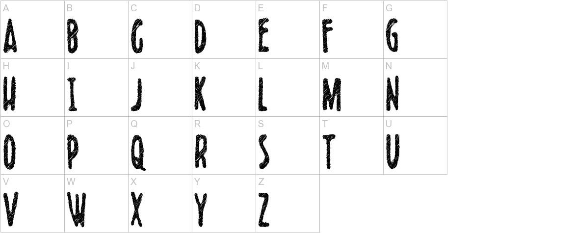 Scribblet uppercase