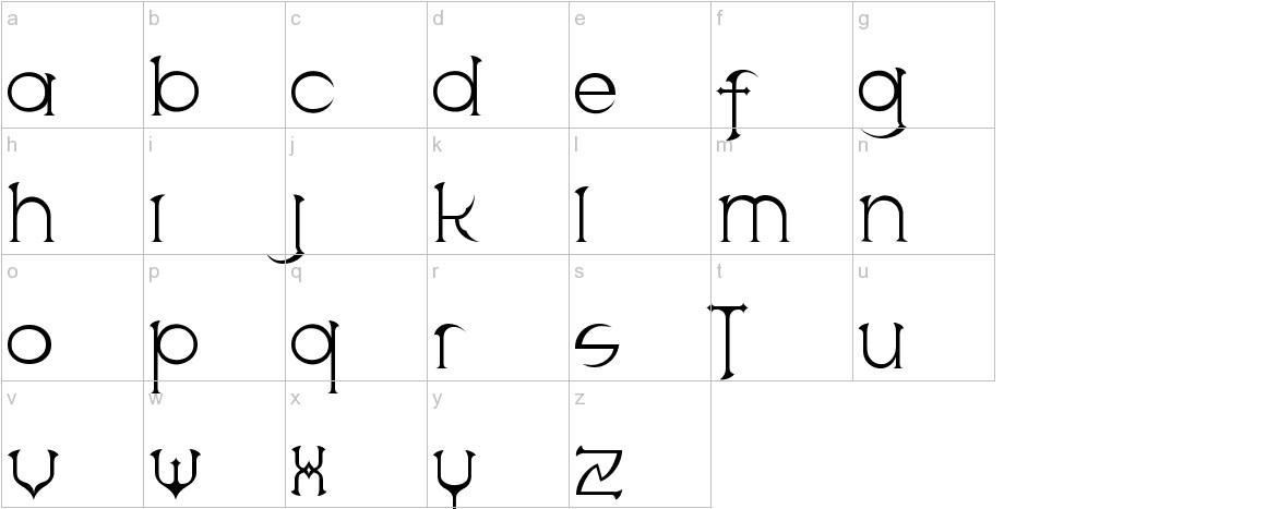 Scythe lowercase