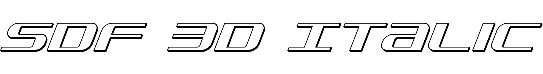 SDF 3D Italic