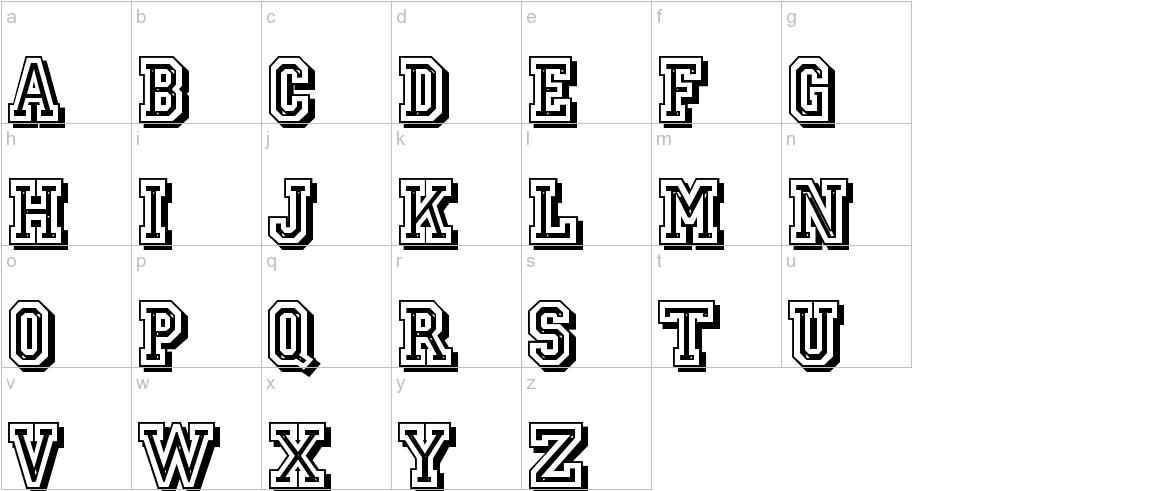JerseyLetters lowercase