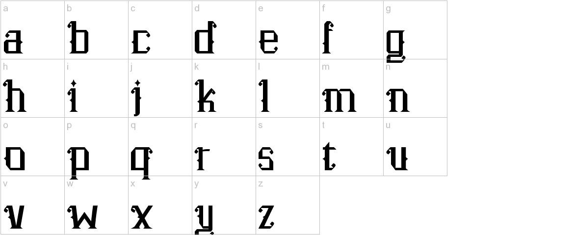 Senzana lowercase