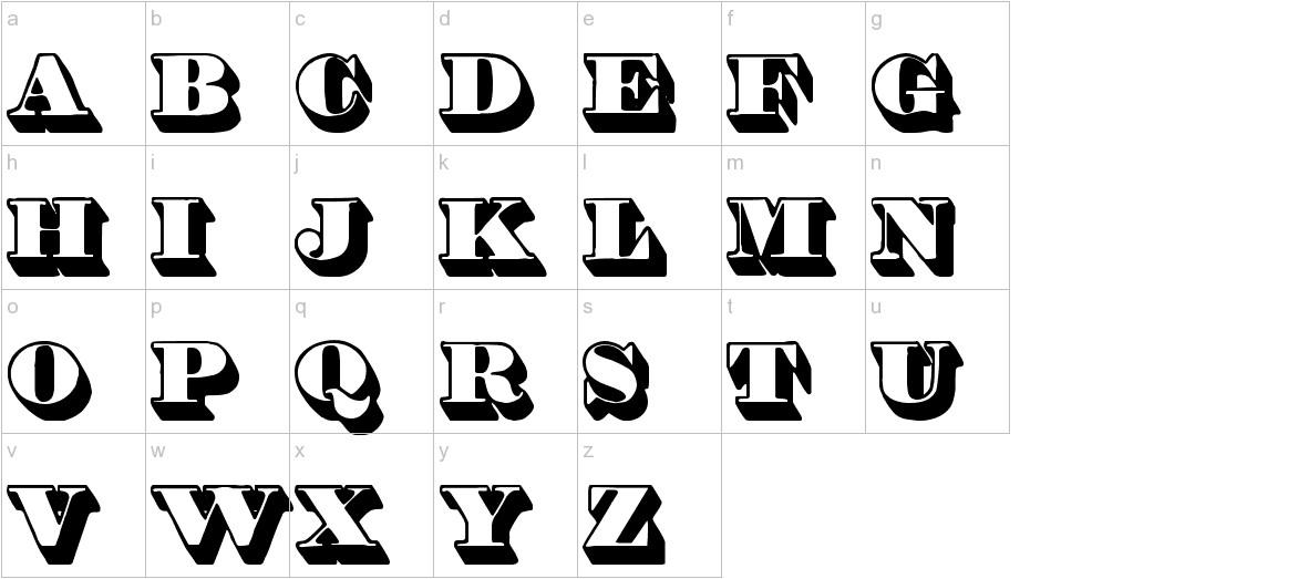 Shadded tfb lowercase