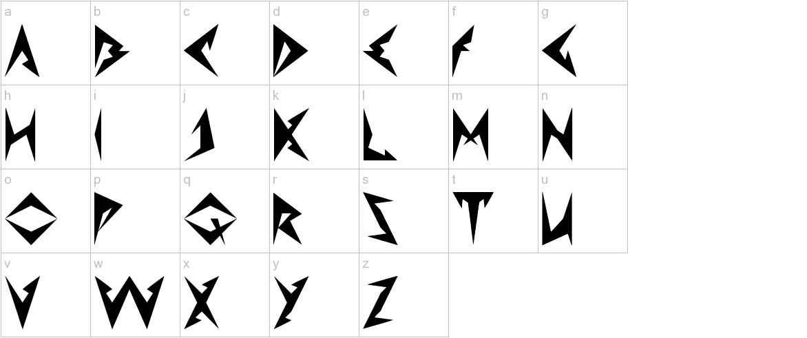 Shinobi Ninja lowercase