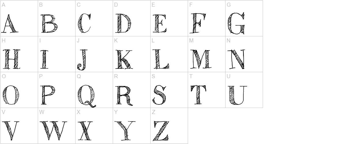 Sketch Fine Serif uppercase