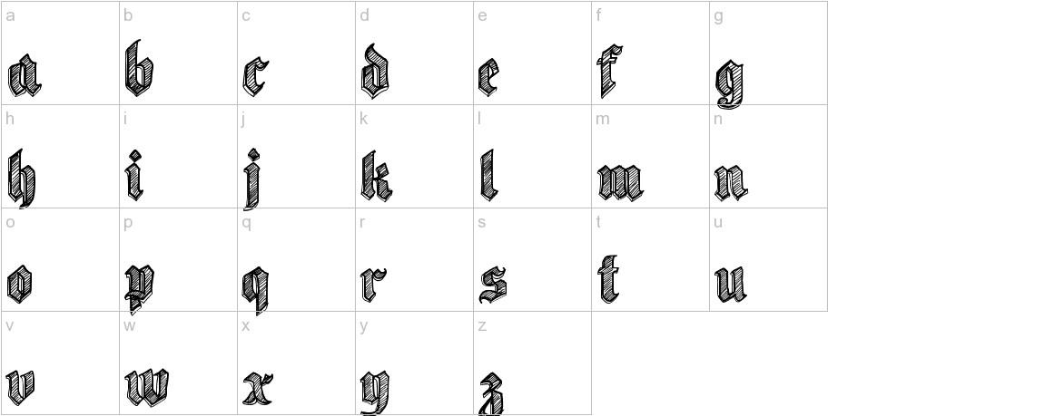 Sketch Gothic School lowercase