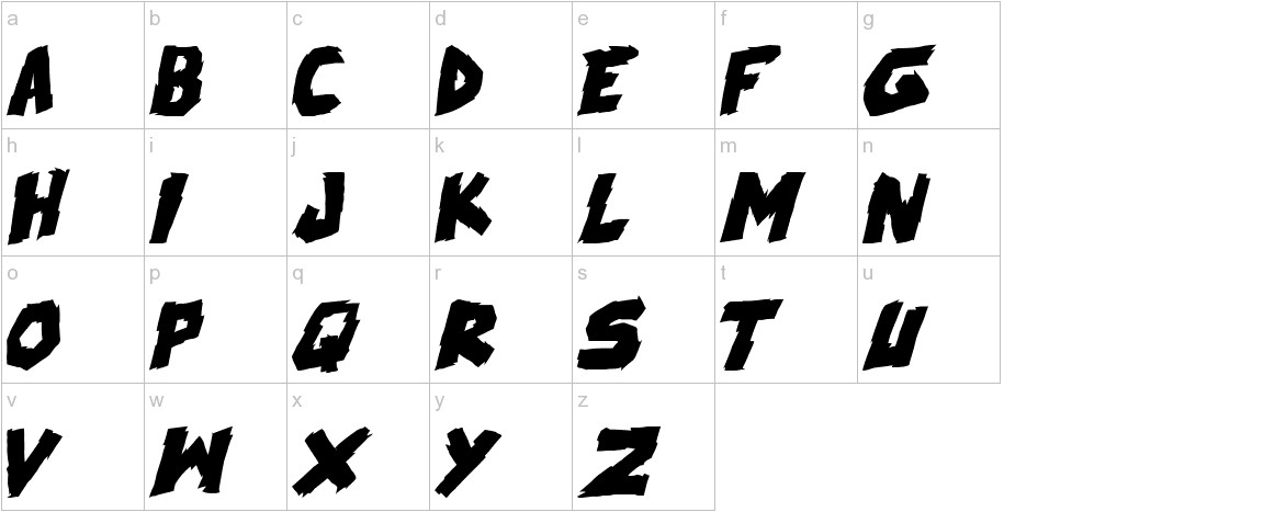 skrunch Bold Italic lowercase