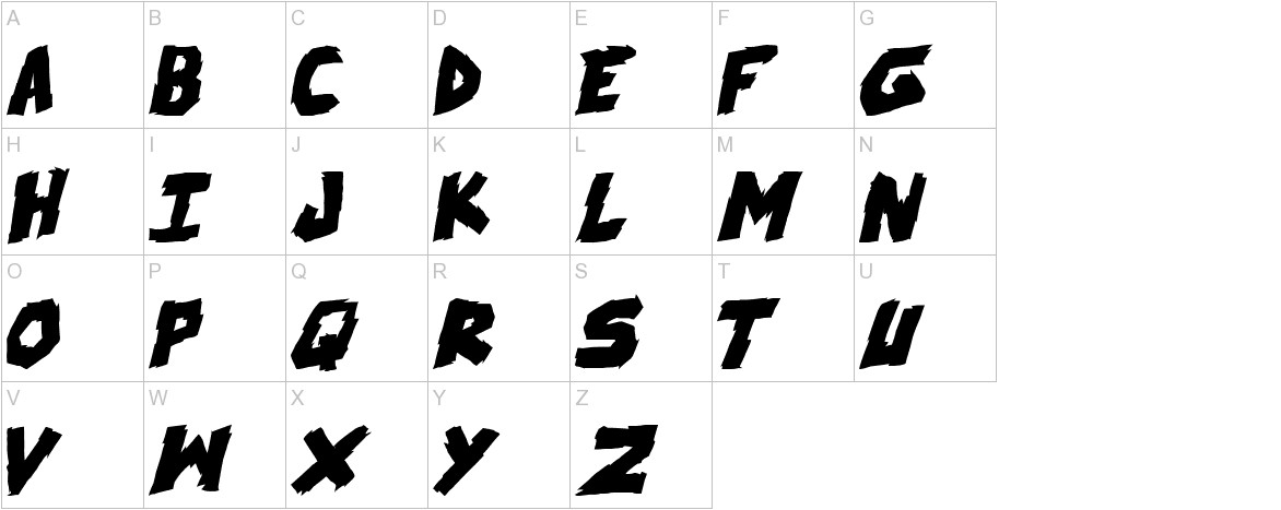 skrunch Bold Italic uppercase