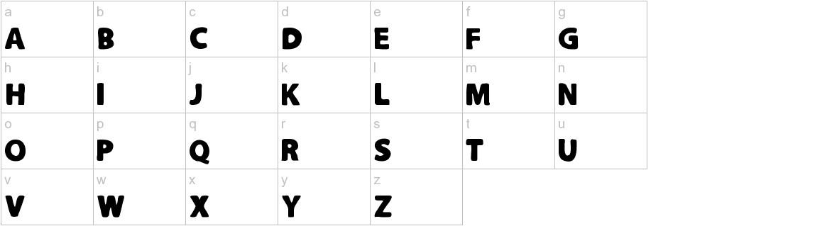 Slutotronic Bold lowercase