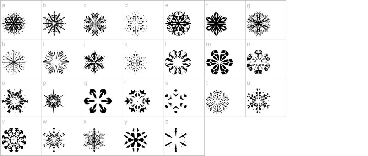 Snowflakes tfb lowercase