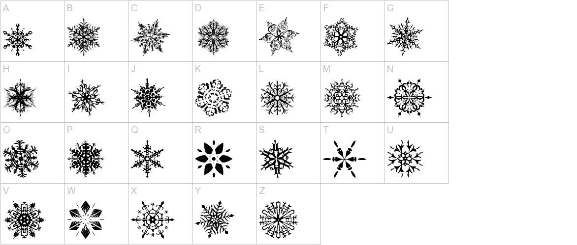 Snowflakes tfb uppercase