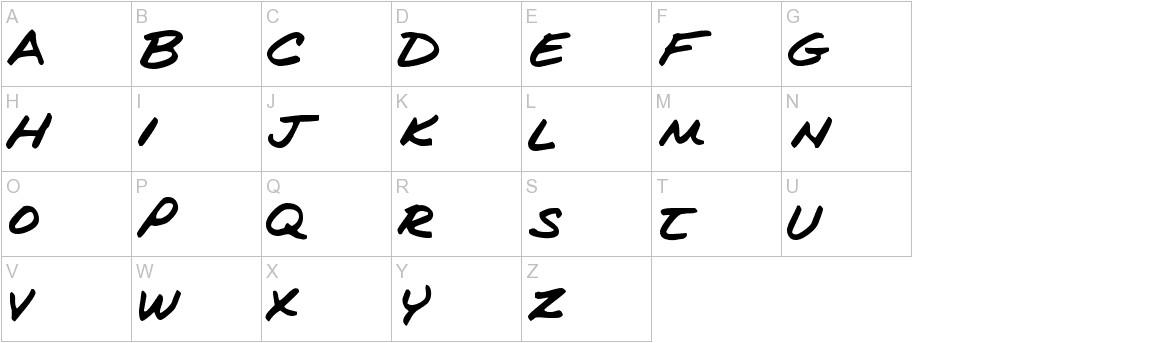 Kims Handwriting uppercase