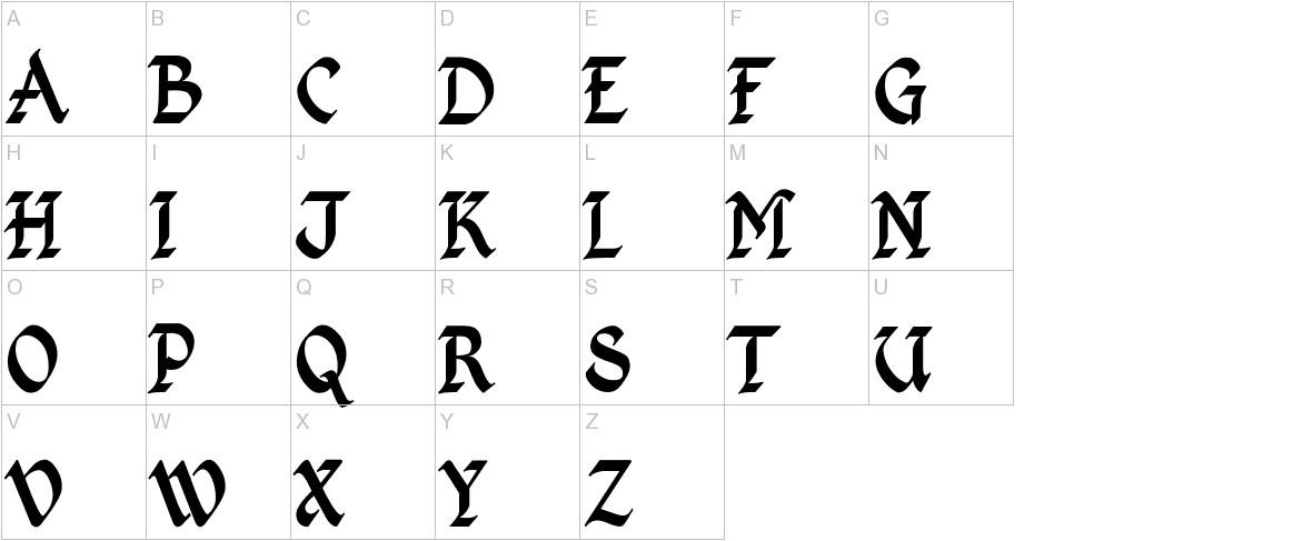 Kingthings Calligraphica uppercase