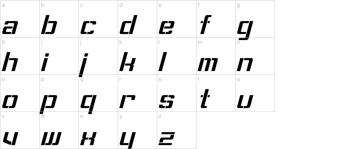 Sorenson Italic lowercase