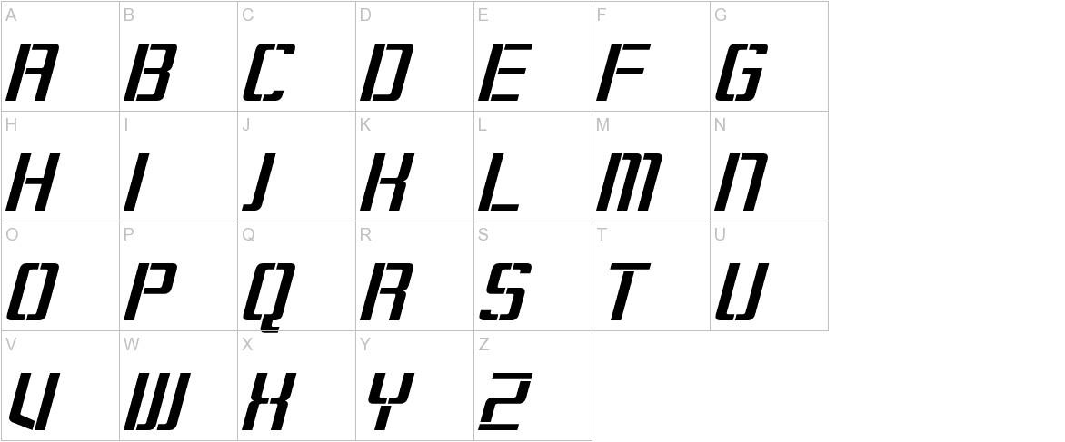 Sorenson Italic uppercase