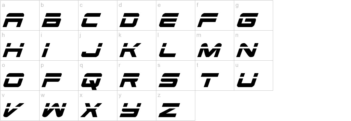 Space Ranger Laser Italic lowercase