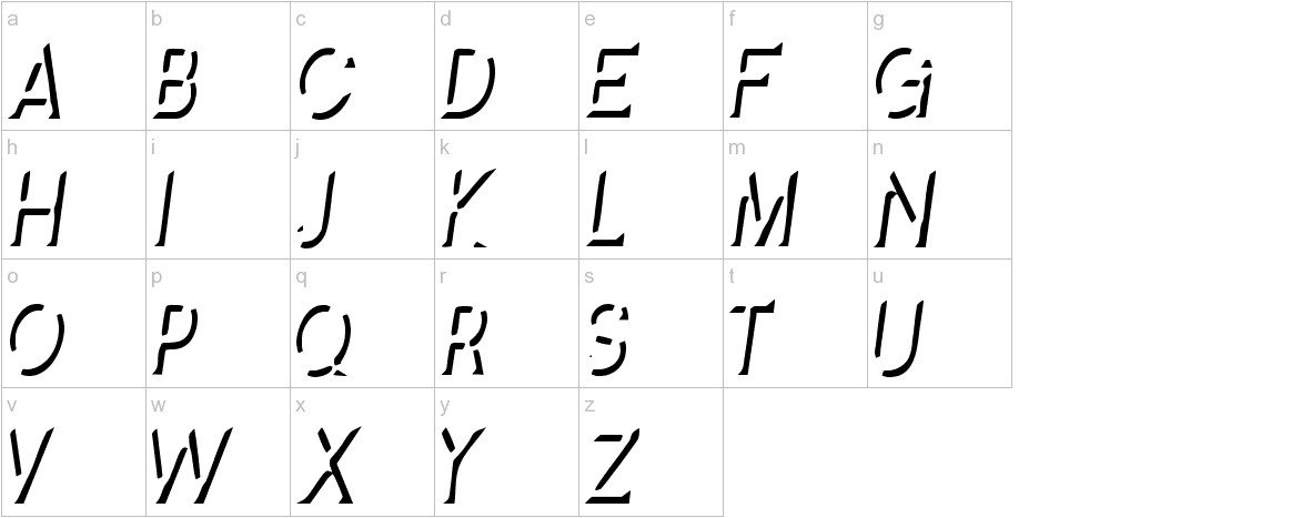 Splendid Stencil lowercase