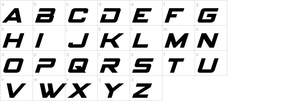 Spy Agency Italic lowercase