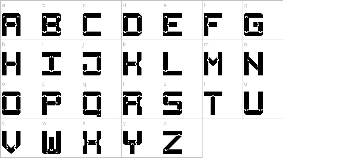 Square Wood-7 lowercase