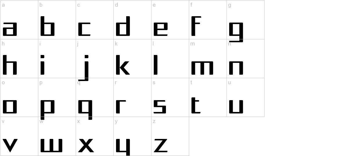 Squarea lowercase
