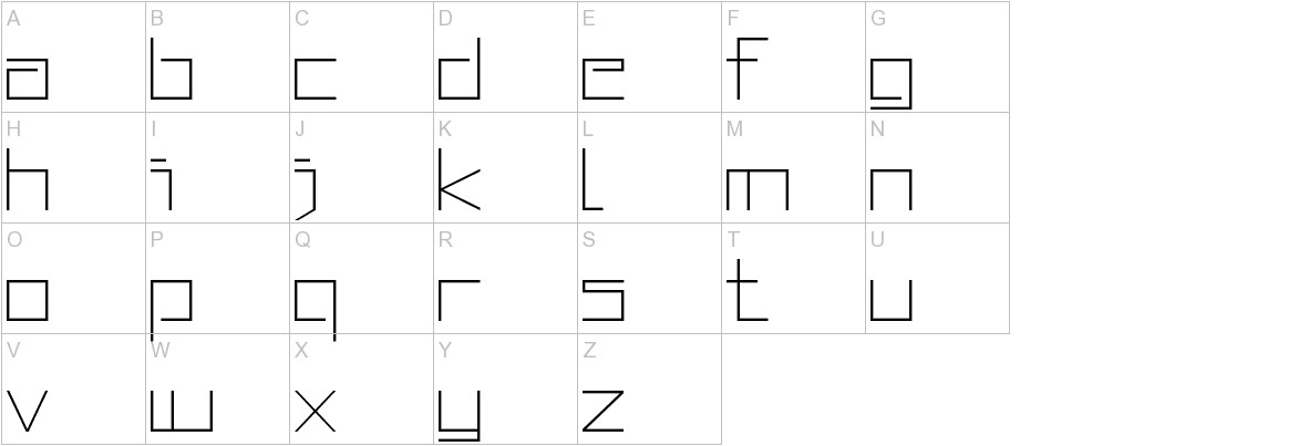 Squared Display uppercase