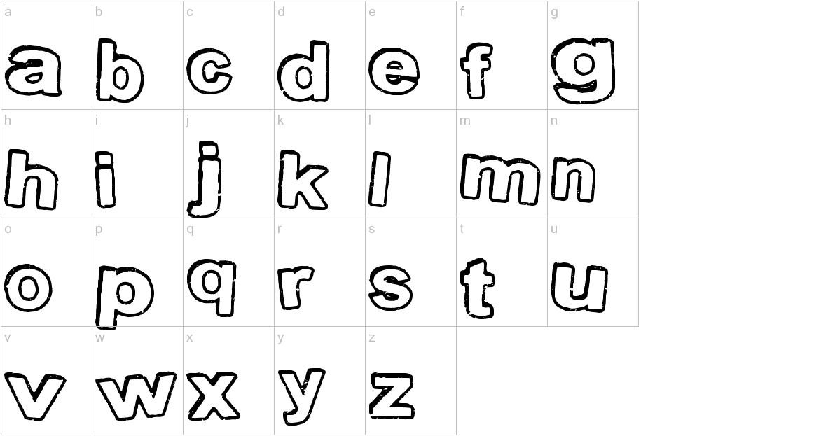 StampInk lowercase
