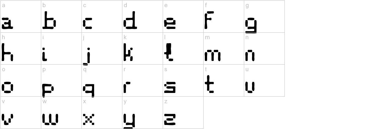 Stencil 8bit lowercase