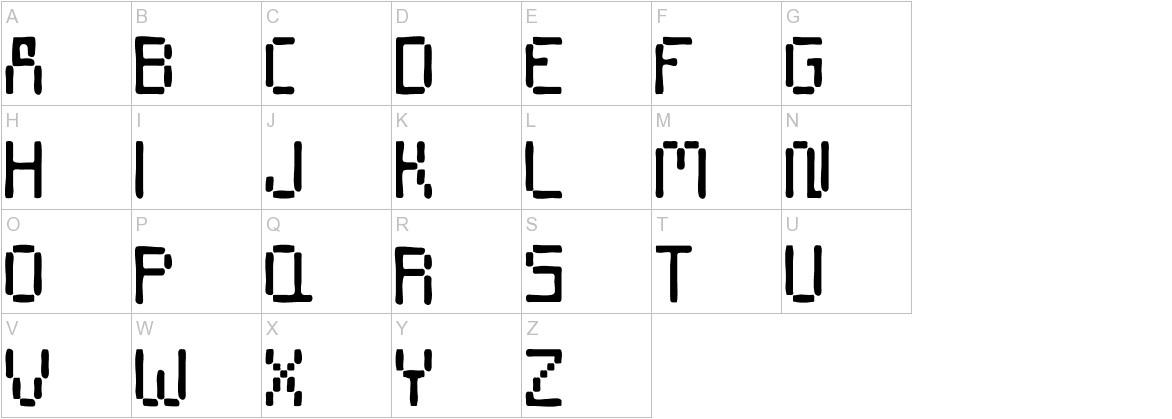 Stencil 8bit uppercase