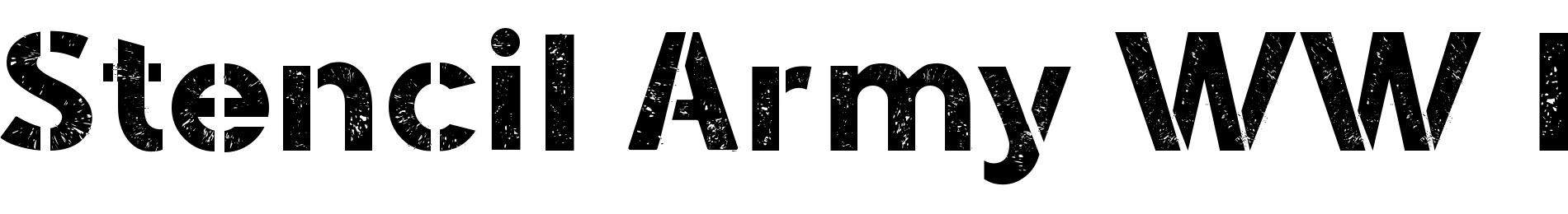 Stencil Army WW I