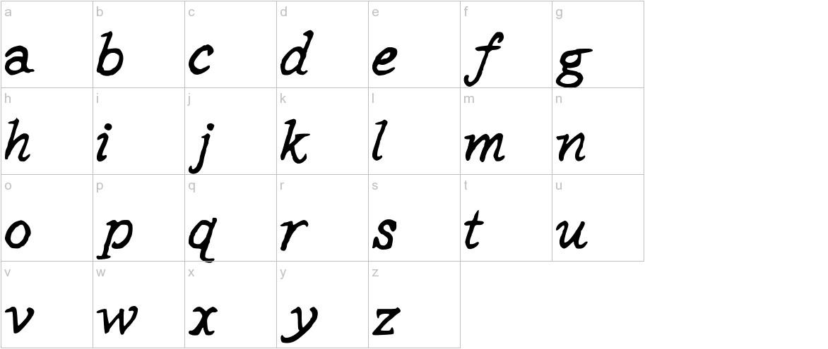 StPauls Medium lowercase