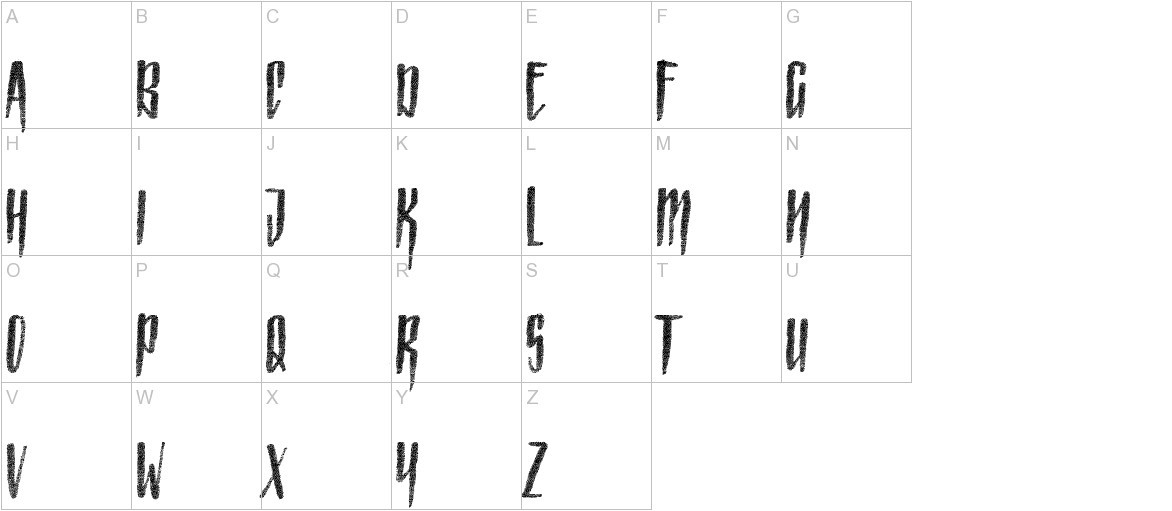 Strained Capitals uppercase