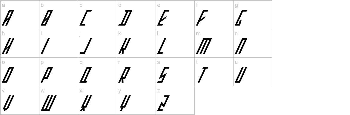 Stretched Electrons Italic lowercase