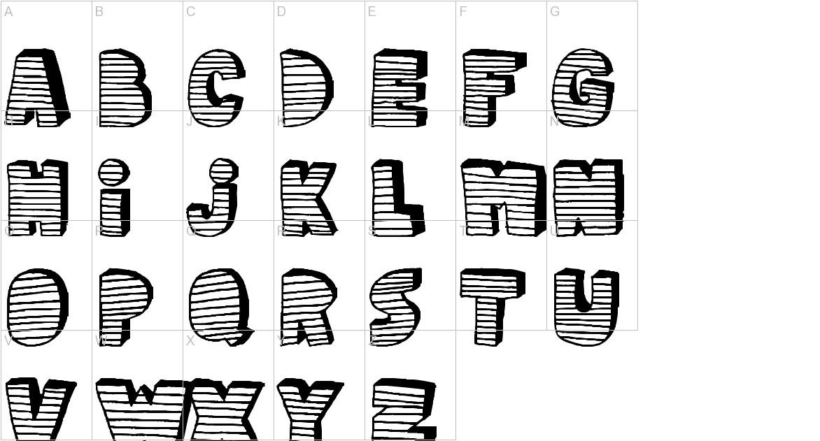 stripe3D uppercase