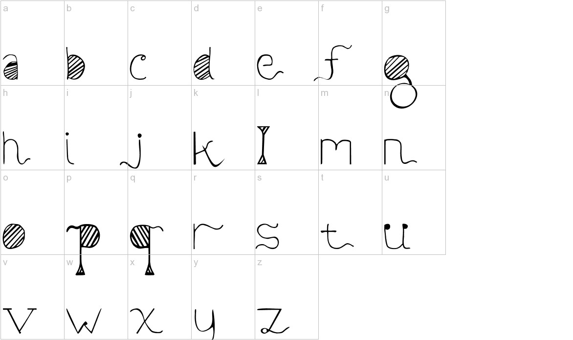 Sunyi Normal lowercase