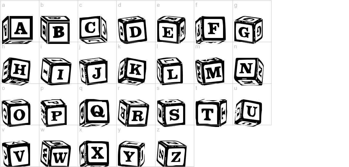 LMS Lance's Letter Blocks lowercase