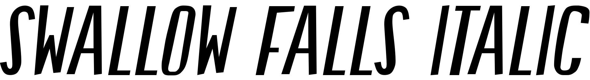 Swallow Falls Italic