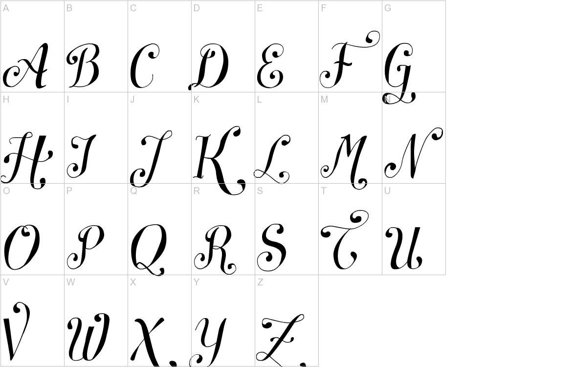 Symphony Script - uppercase