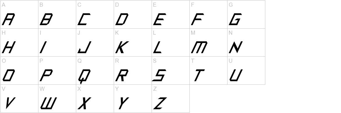 Synthetic Sharps Italic uppercase