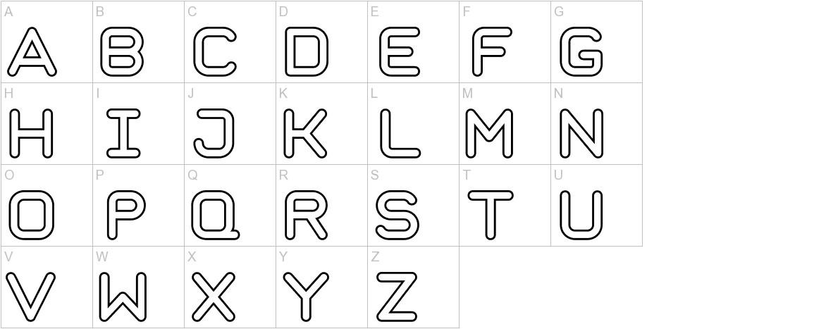 Taurus Mono Outline Bold uppercase