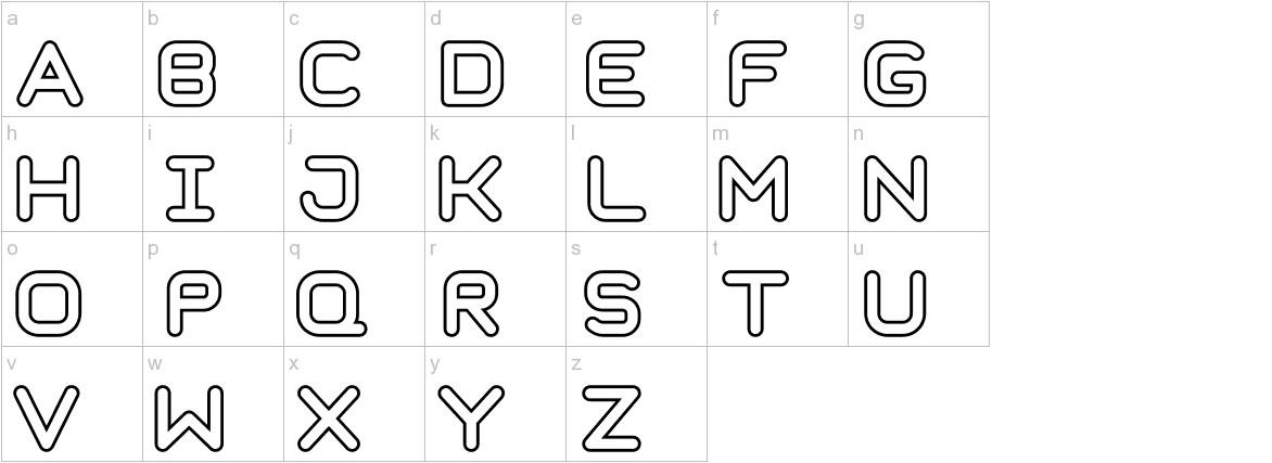 Taurus Mono Outline Bold lowercase