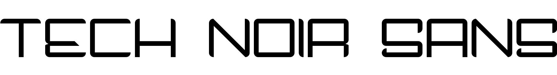Tech Noir Sans