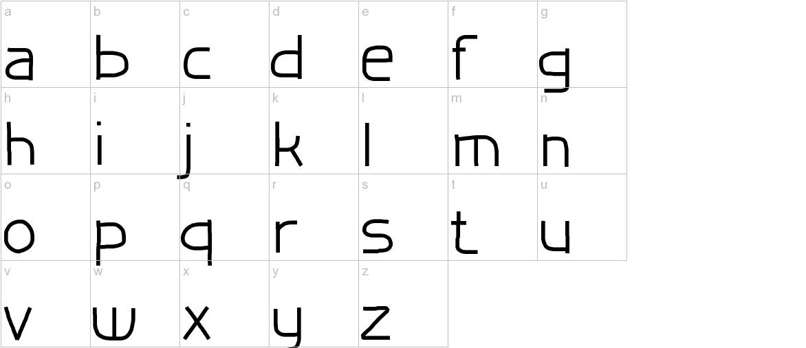 TestFontHF lowercase