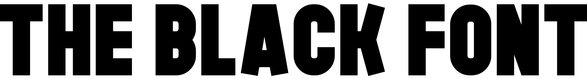 The Black Font
