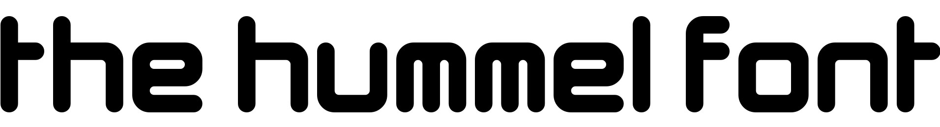 The Hummel Font