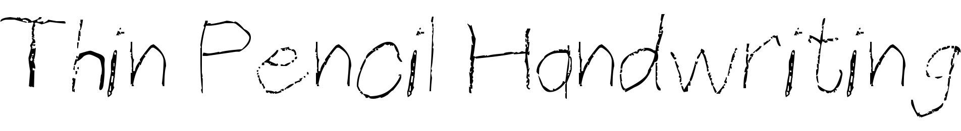 Thin Pencil Handwriting